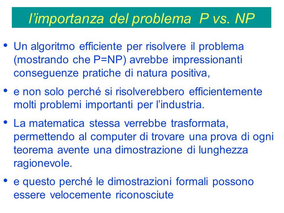 limportanza del problema P vs.
