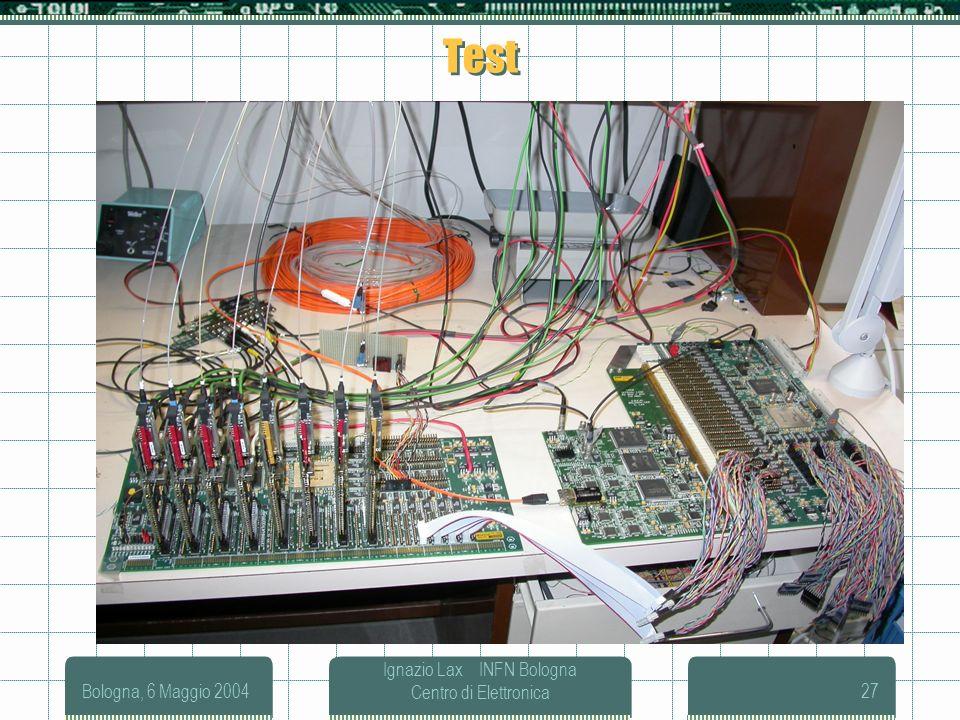 Bologna, 6 Maggio 2004 Ignazio Lax INFN Bologna Centro di Elettronica27 Test