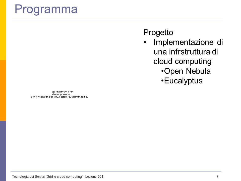 Tecnologia dei Servizi Grid e cloud computing - Lezione 001 6 Obiettivi formativi del corso Conoscenza del paradigma delle griglie computazionali e de