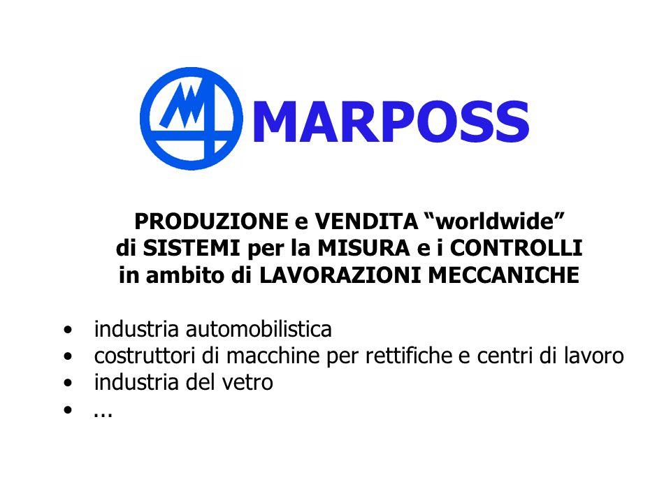 MARPOSS PRODUZIONE e VENDITA worldwide di SISTEMI per la MISURA e i CONTROLLI in ambito di LAVORAZIONI MECCANICHE industria automobilistica costruttor