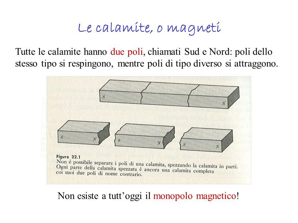 Linee di campo magnetico Forniscono la direzione lungo cui si allinea un aghetto magnetico posto in una data posizione rispetto al magnete.