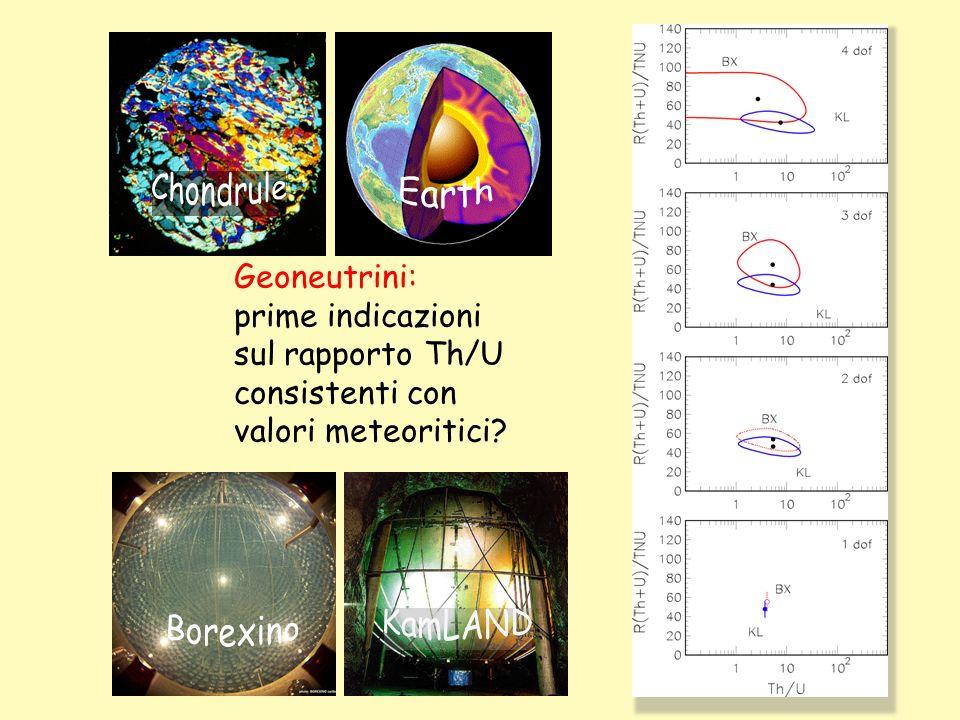 Geoneutrini: prime indicazioni sul rapporto Th/U consistenti con valori meteoritici?