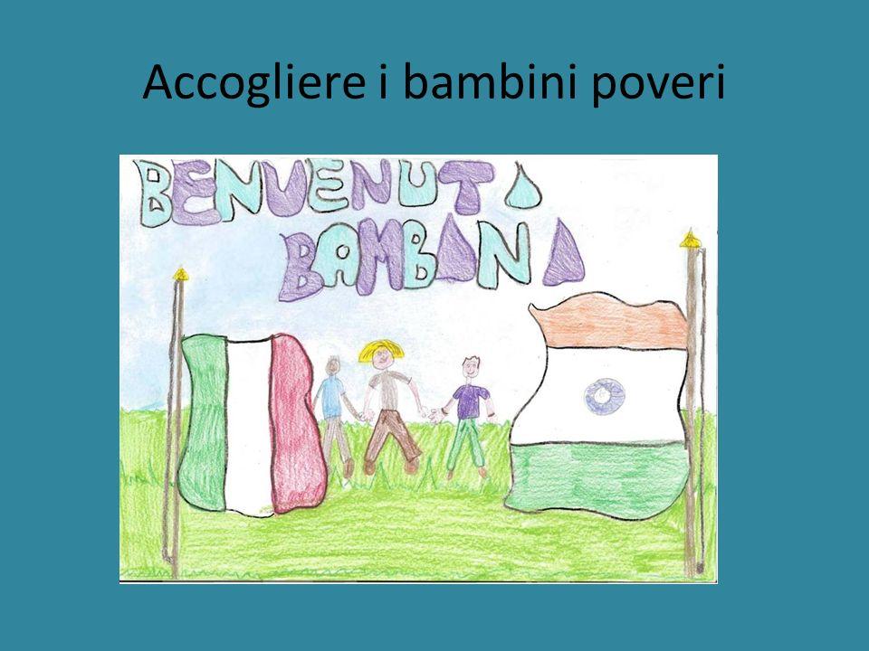 Prendere i bambini con gli elicotteri e portarli in Italia