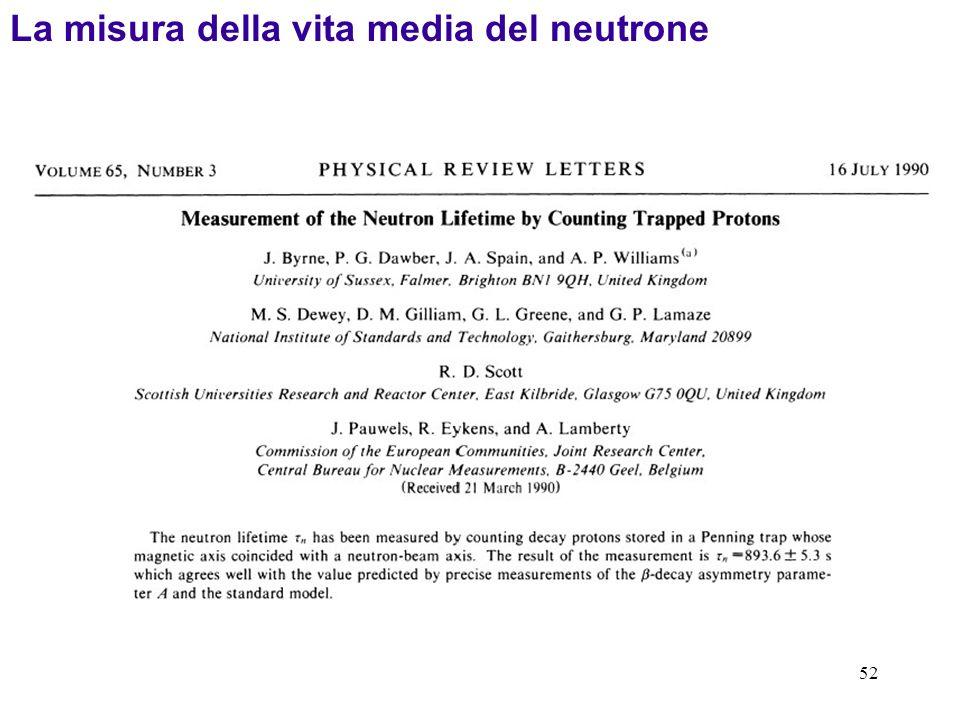 52 La misura della vita media del neutrone