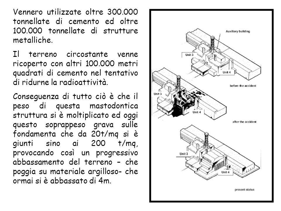 Vennero utilizzate oltre 300.000 tonnellate di cemento ed oltre 100.000 tonnellate di strutture metalliche.