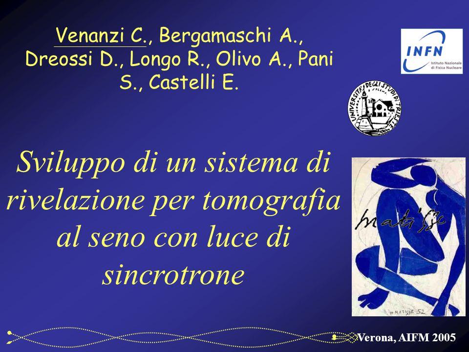 Verona, AIFM 2005 Venanzi C., Bergamaschi A., Dreossi D., Longo R., Olivo A., Pani S., Castelli E.