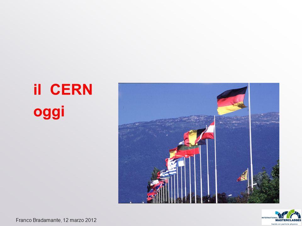 Franco Bradamante, 12 marzo 2012 il CERN oggi