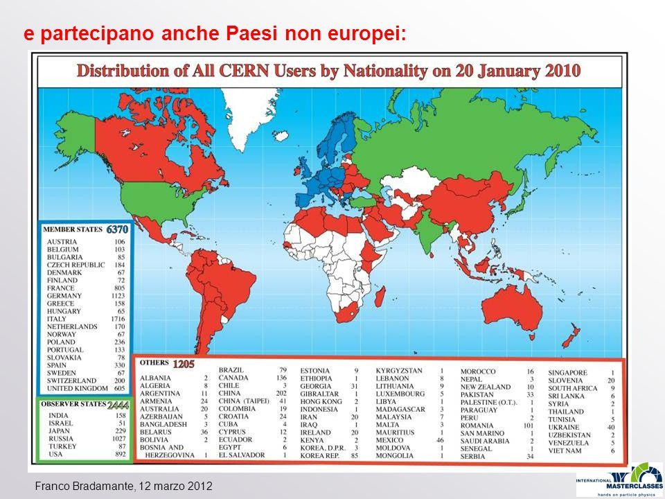 Franco Bradamante, 12 marzo 2012 e partecipano anche Paesi non europei: