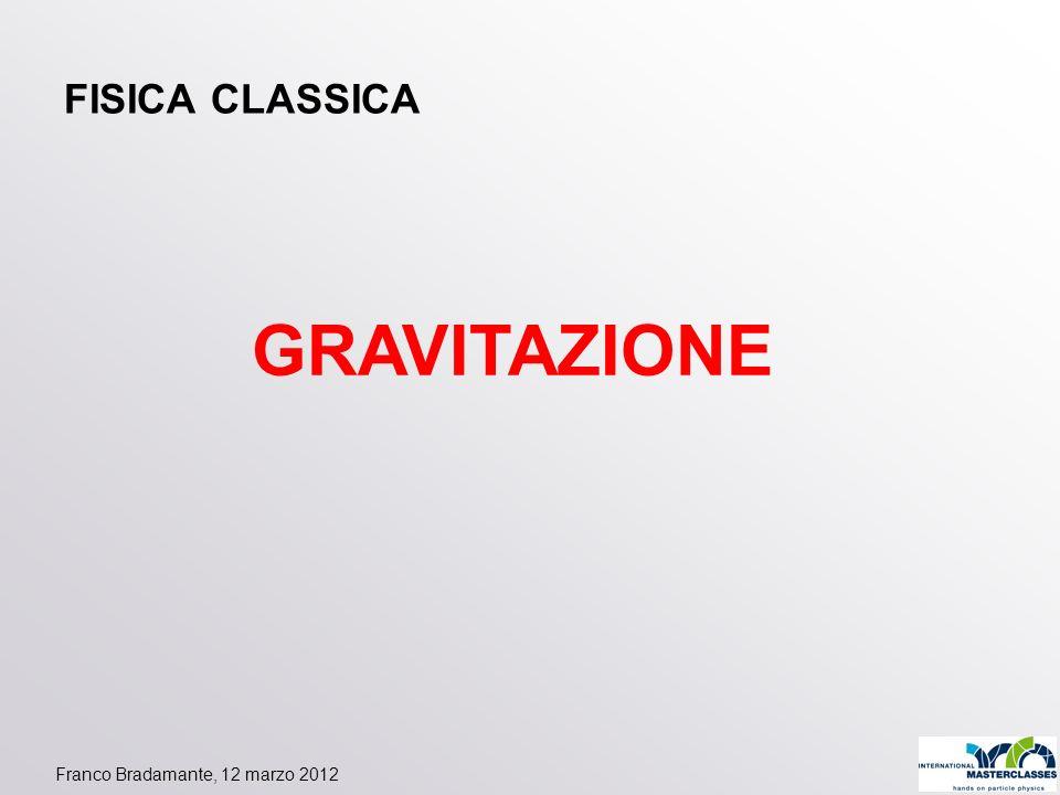 Franco Bradamante, 12 marzo 2012 FISICA CLASSICA GRAVITAZIONE