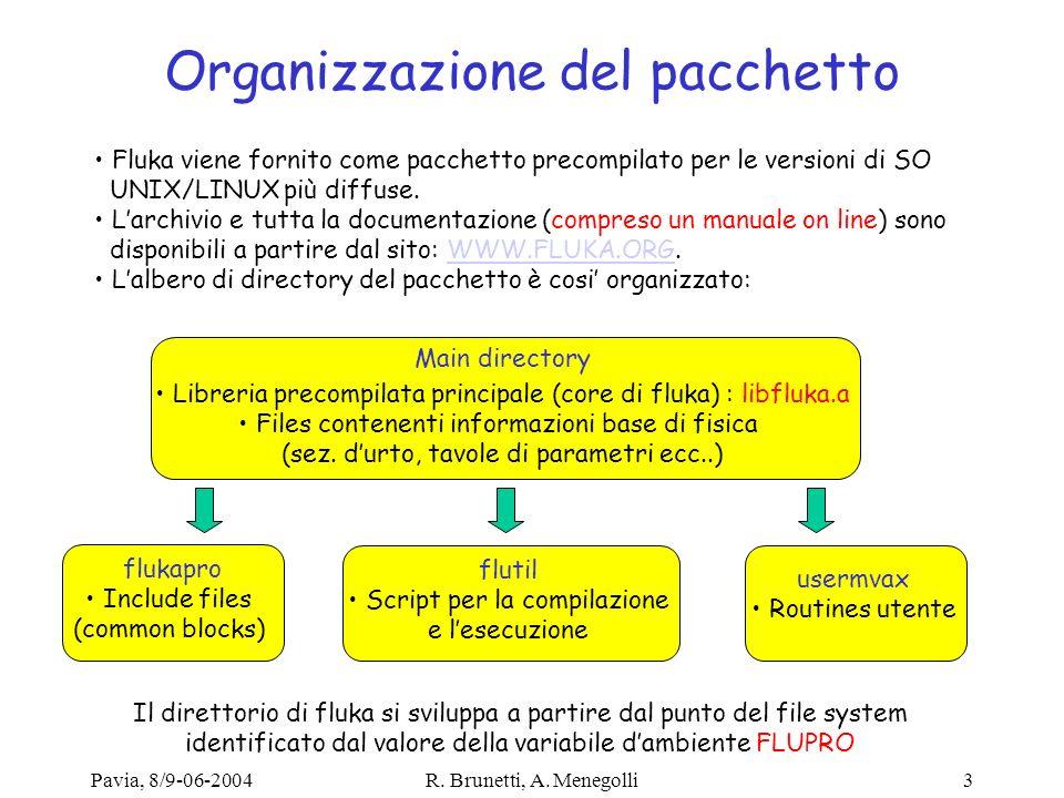 Pavia, 8/9-06-2004R. Brunetti, A. Menegolli14