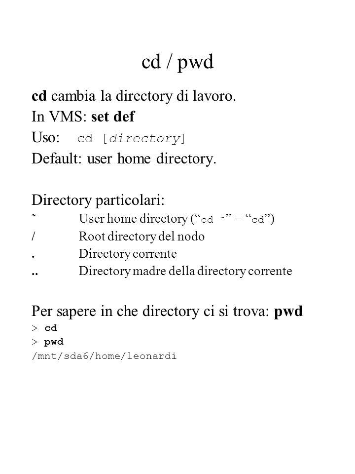 Controllo dei processi: esempio > myMC.exe myMC.log & [1] 1834 > (grazie al & alla fine il comando viene eseguito in background.