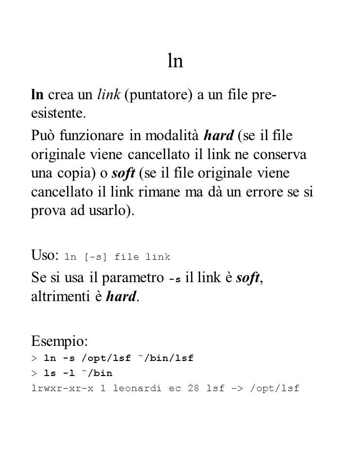 who / which / whereis who mostra gli user loggati sulla macchina.