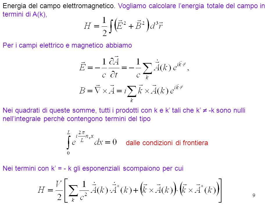 9 Energia del campo elettromagnetico.