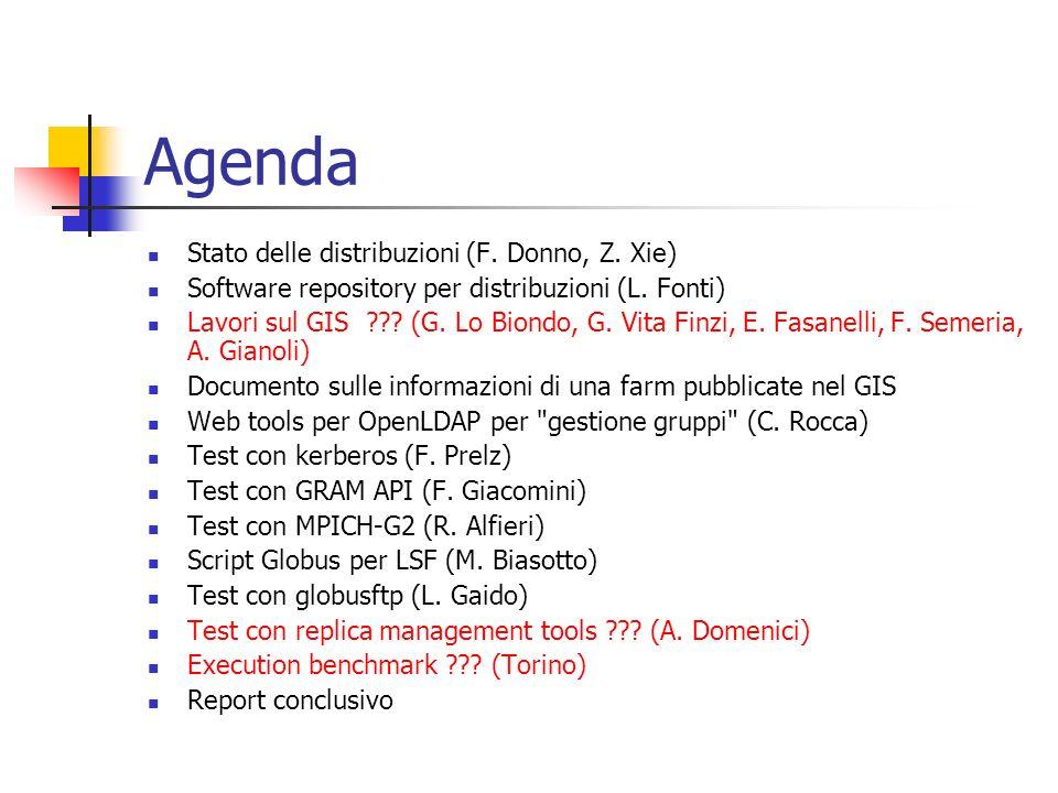 Agenda Stato delle distribuzioni (F. Donno, Z. Xie) Software repository per distribuzioni (L.