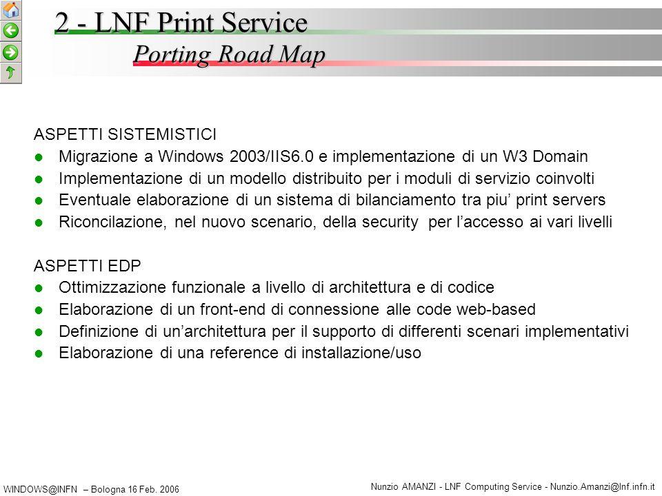 WINDOWS@INFN – Bologna 16 Feb.