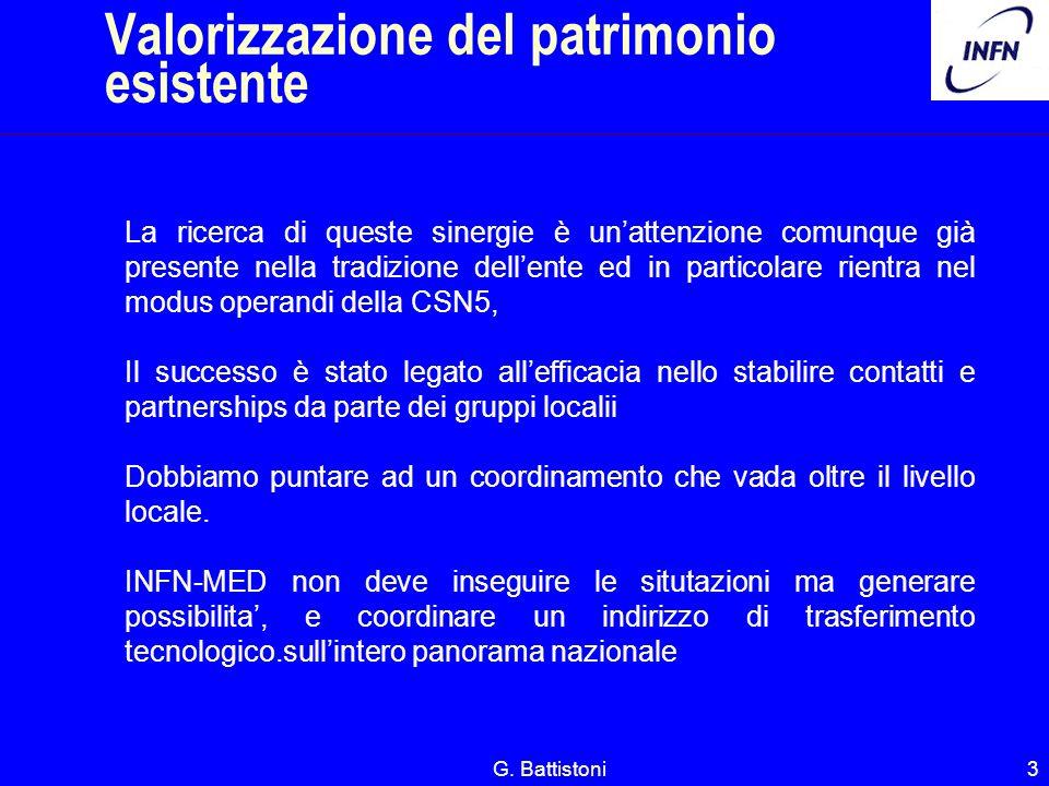 G. Battistoni3 La ricerca di queste sinergie è unattenzione comunque già presente nella tradizione dellente ed in particolare rientra nel modus operan