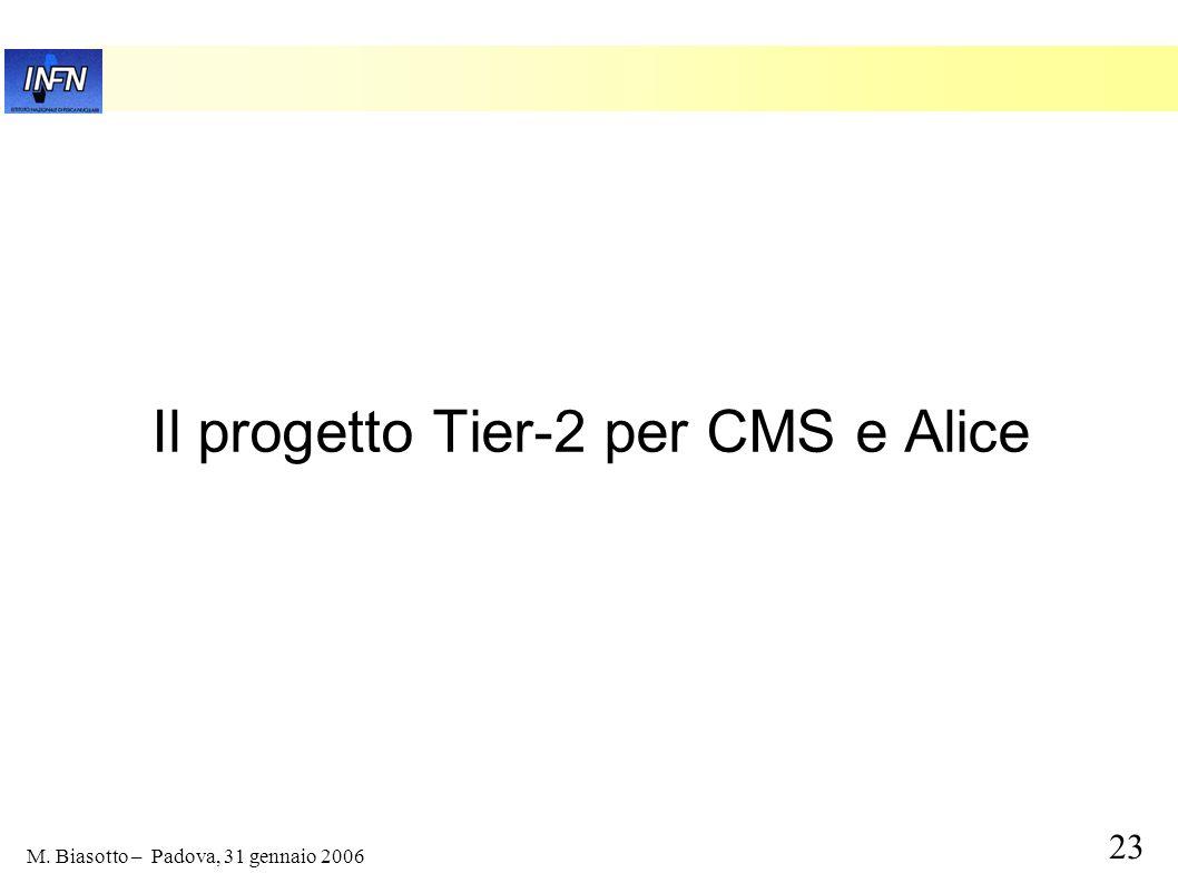 23 M. Biasotto – Padova, 31 gennaio 2006 Il progetto Tier-2 per CMS e Alice
