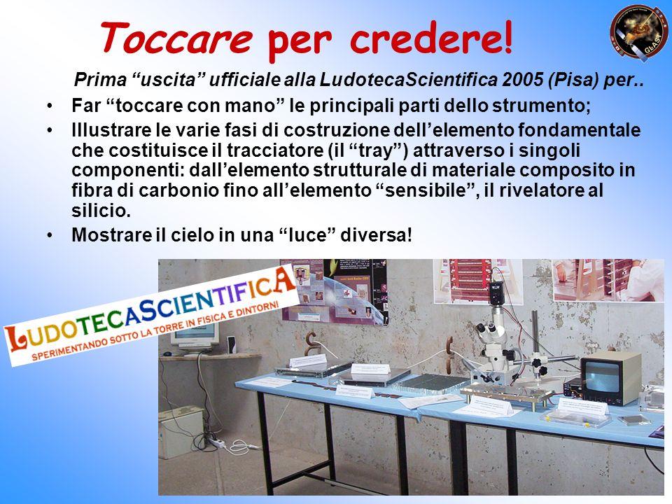 Toccare per credere! Prima uscita ufficiale alla LudotecaScientifica 2005 (Pisa) per.. Far toccare con mano le principali parti dello strumento; Illus