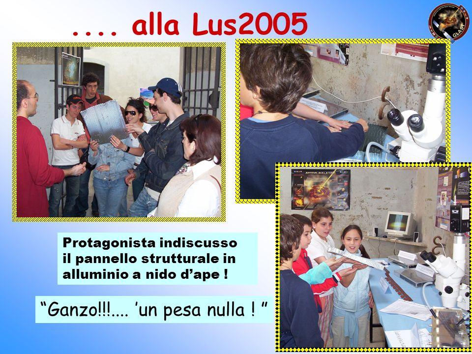 .... alla Lus2005 Protagonista indiscusso il pannello strutturale in alluminio a nido dape ! Ganzo!!!.... un pesa nulla !