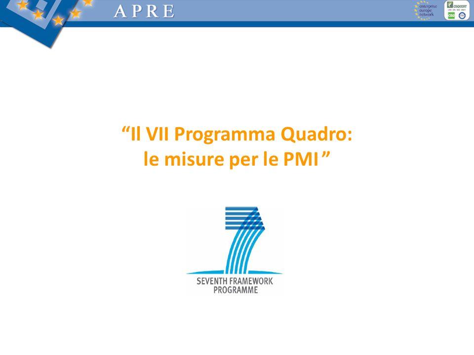 Il VII Programma Quadro: le misure per le PMI