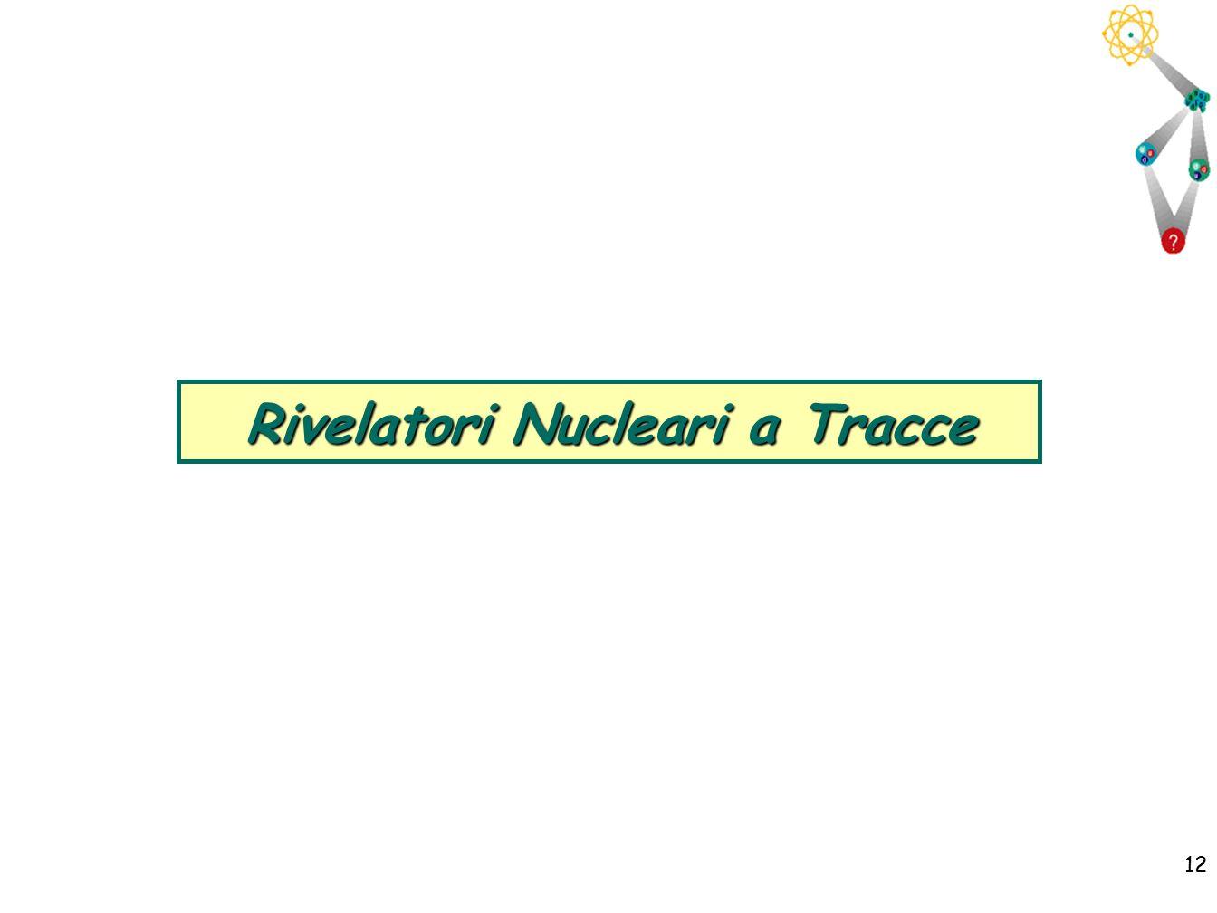 12 Rivelatori Nucleari a Tracce