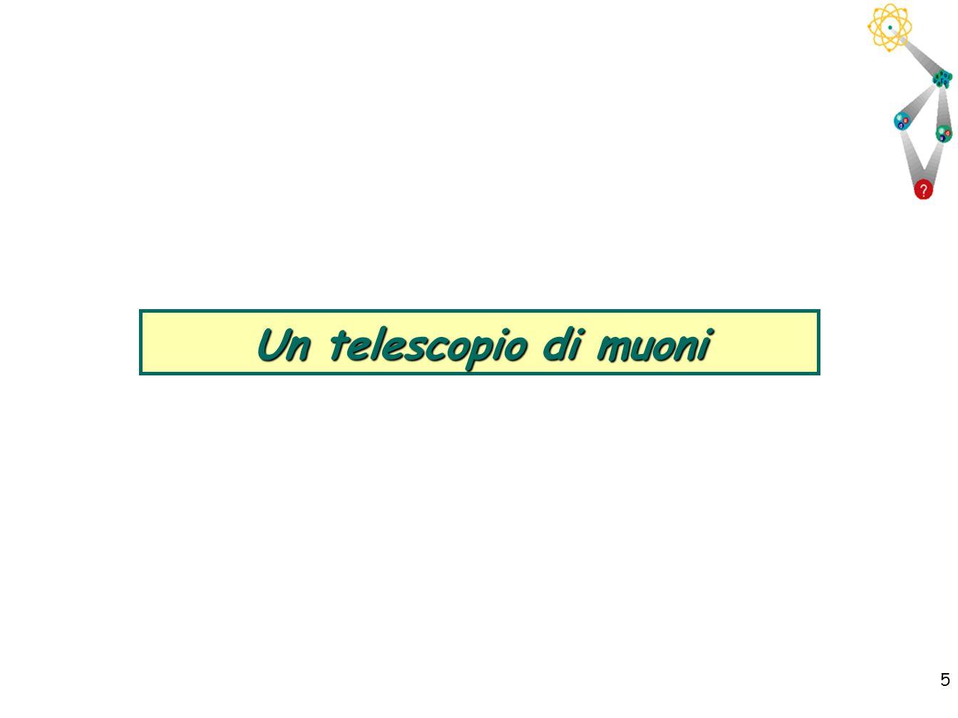 5 5 Un telescopio di muoni