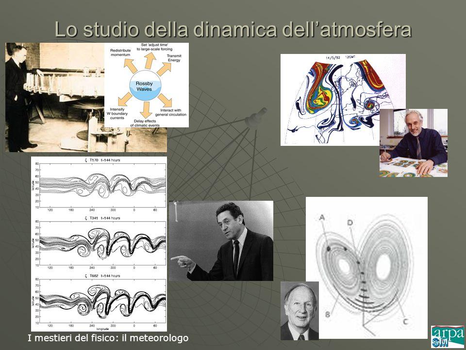 I mestieri del fisico: il meteorologo Lo studio della dinamica dellatmosfera