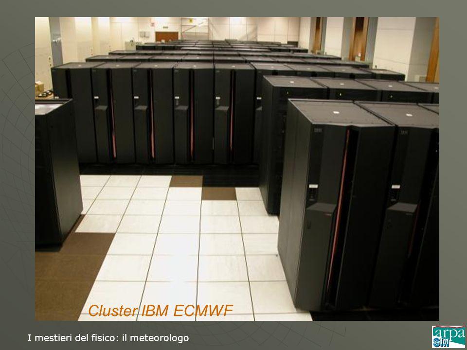 I mestieri del fisico: il meteorologo Cluster IBM ECMWF