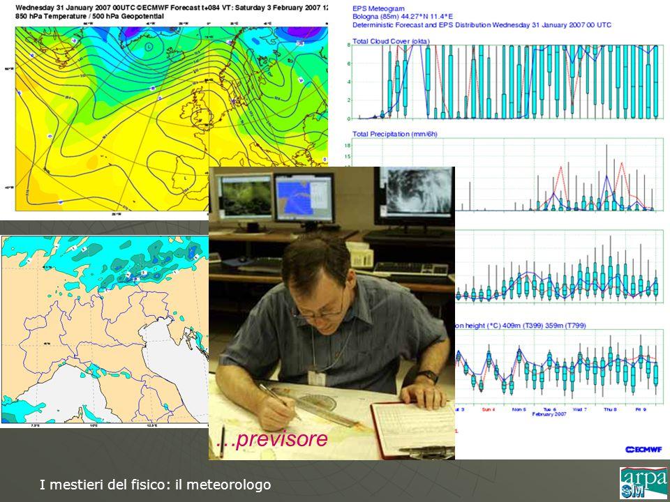 I mestieri del fisico: il meteorologo …previsore