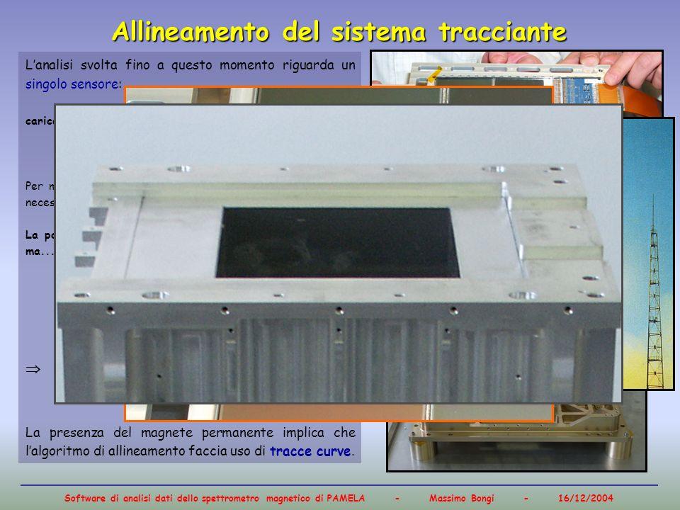 Software di analisi dati dello spettrometro magnetico di PAMELA - Massimo Bongi - 16/12/2004 Lanalisi svolta fino a questo momento riguarda un singolo