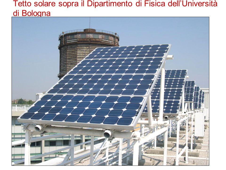 Tetto solare sopra il Dipartimento di Fisica dellUniversità di Bologna