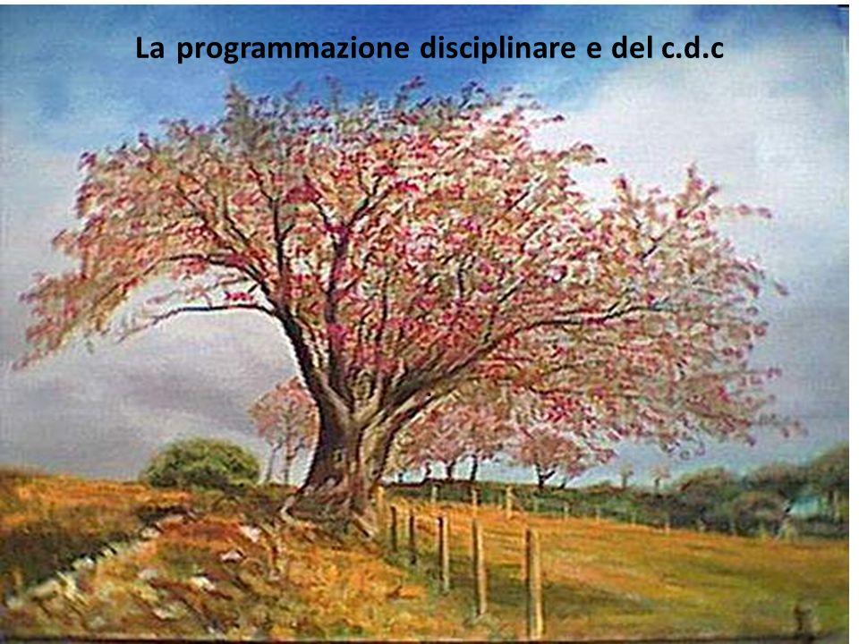 La programmazione disciplinare e del c.d.c.