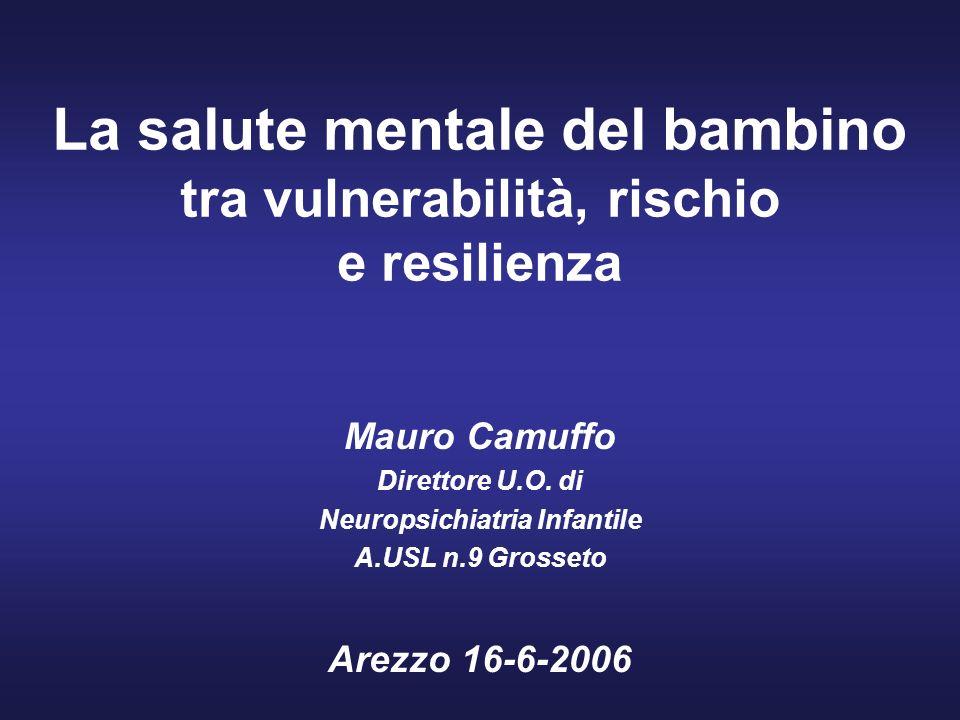 La salute mentale del bambino tra vulnerabilità, rischio e resilienza Mauro Camuffo Direttore U.O.