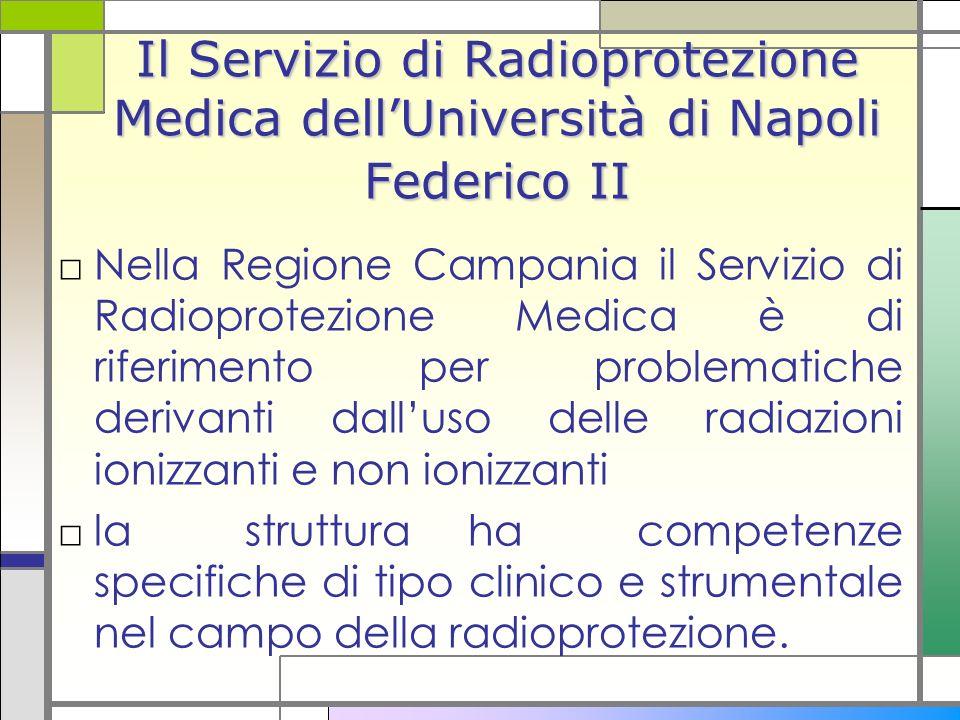 Il Servizio di Radioprotezione Medica dellUniversità di Napoli Federico II Nella Regione Campania il Servizio di Radioprotezione Medica è di riferimen