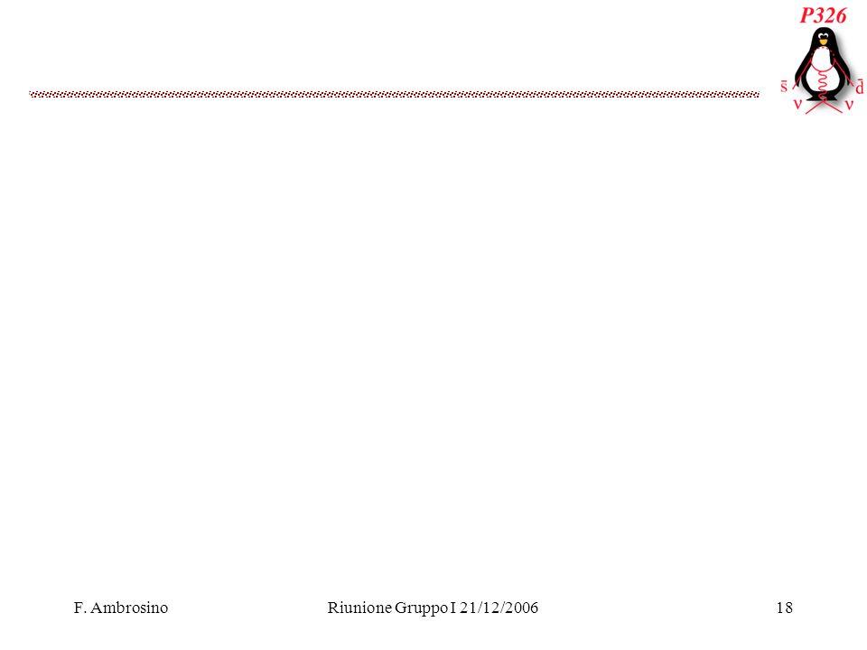 F. AmbrosinoRiunione Gruppo I 21/12/200618