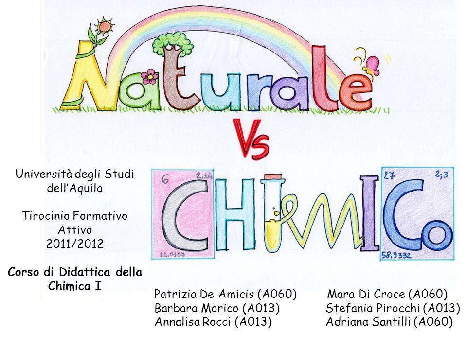 Università degli Studi dellAquila Tirocinio Formativo Attivo 2011/2012 Corso di Didattica della Chimica I Patrizia De Amicis (A060) Mara Di Croce (A06