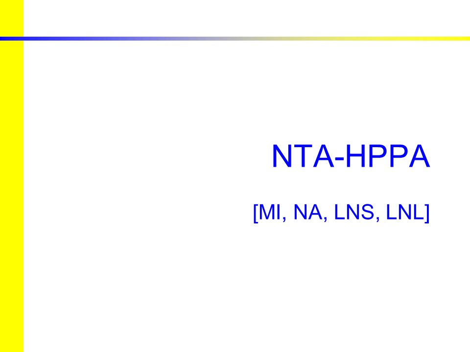 European studies for nuclear waste transmutation NTA-HPPA – High Power Proton Accelerators 15 Governing Council