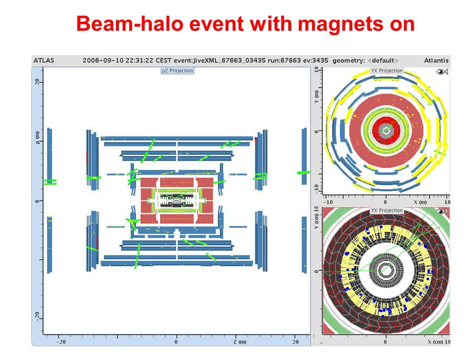 Napoli 16 dicembre 2008v. Canale - Riunione Annuale di Gruppo 123 Beam-halo event with magnets on