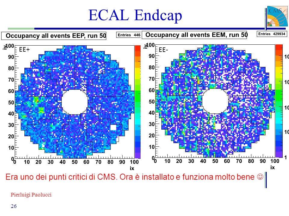 Pierluigi Paolucci 26 ECAL Endcap EE+ EE- Era uno dei punti critici di CMS. Ora è installato e funziona molto bene