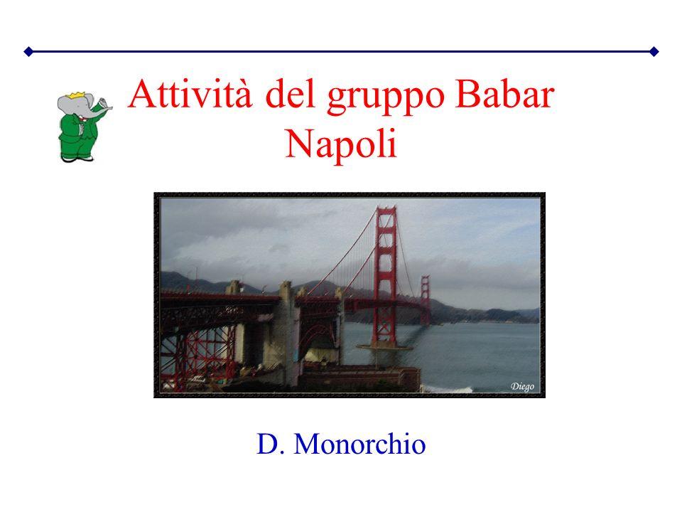 Attività del gruppo Babar Napoli D. Monorchio