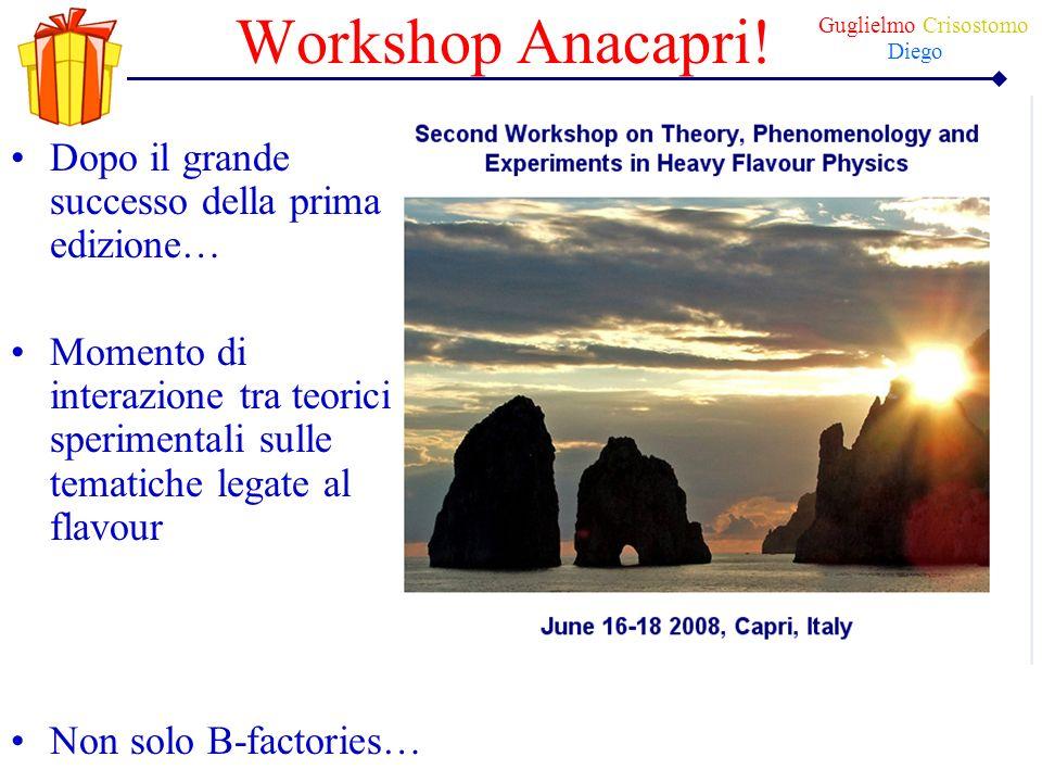 Workshop Anacapri! Dopo il grande successo della prima edizione… Momento di interazione tra teorici e sperimentali sulle tematiche legate al flavour N