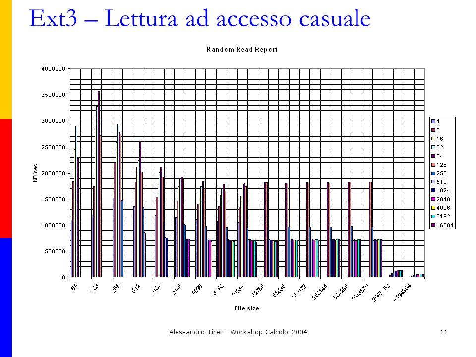 Alessandro Tirel - Workshop Calcolo 200411 Ext3 – Lettura ad accesso casuale