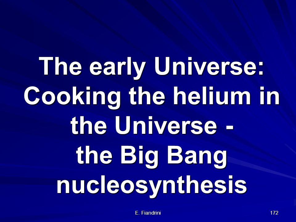E. Fiandrini 171 Se ne conclude che: 1.LUniverso è dominato da una forma sconosciuta di energia 2.La maggioranza della MATERIA è OSCURA 3.La maggioran