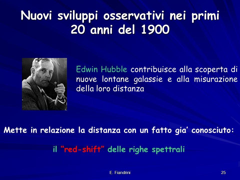 E. Fiandrini 24 Se luniverso non e statico e in particolare, se stelle e galassie si sono formate in un qualche periodo del passato e se prima di quel