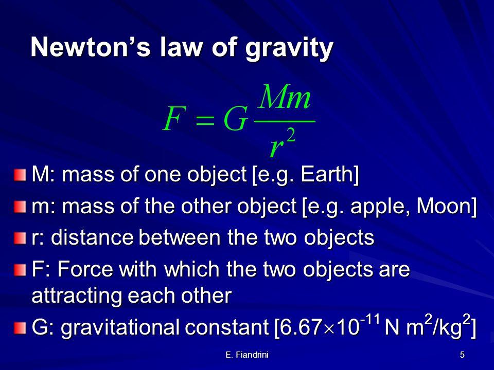 E. Fiandrini 4 La nascita della Cosmologia Scientifica Moderna: Newton Il seme per una nuova e razionale comprensione delluniverso esistevano gia prim