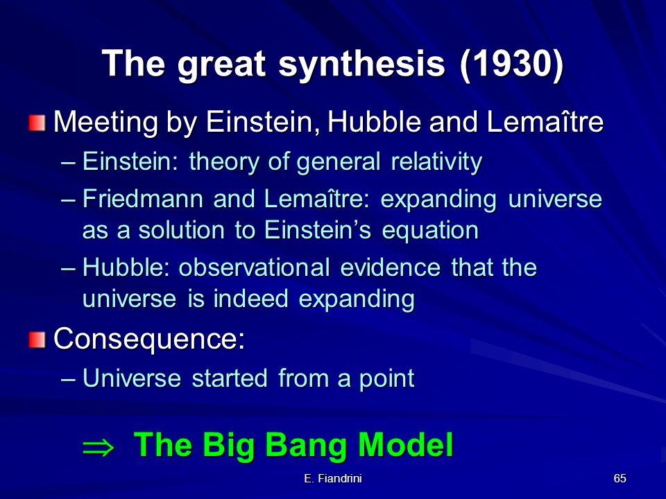 E. Fiandrini 64 R.G.: lequazione di Einstein (sistema di 10 eq.) (Metro, Orologi) = (Energia, Materia) Prima formulazione... aggiunta di Einstein in s