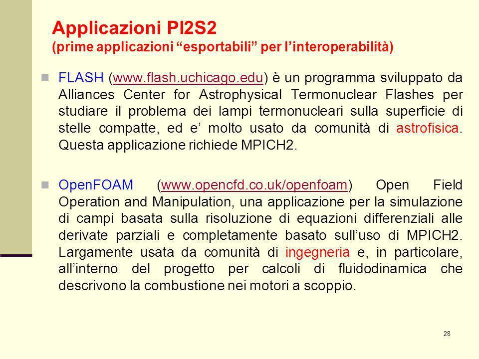 28 FLASH (www.flash.uchicago.edu) è un programma sviluppato da Alliances Center for Astrophysical Termonuclear Flashes per studiare il problema dei la