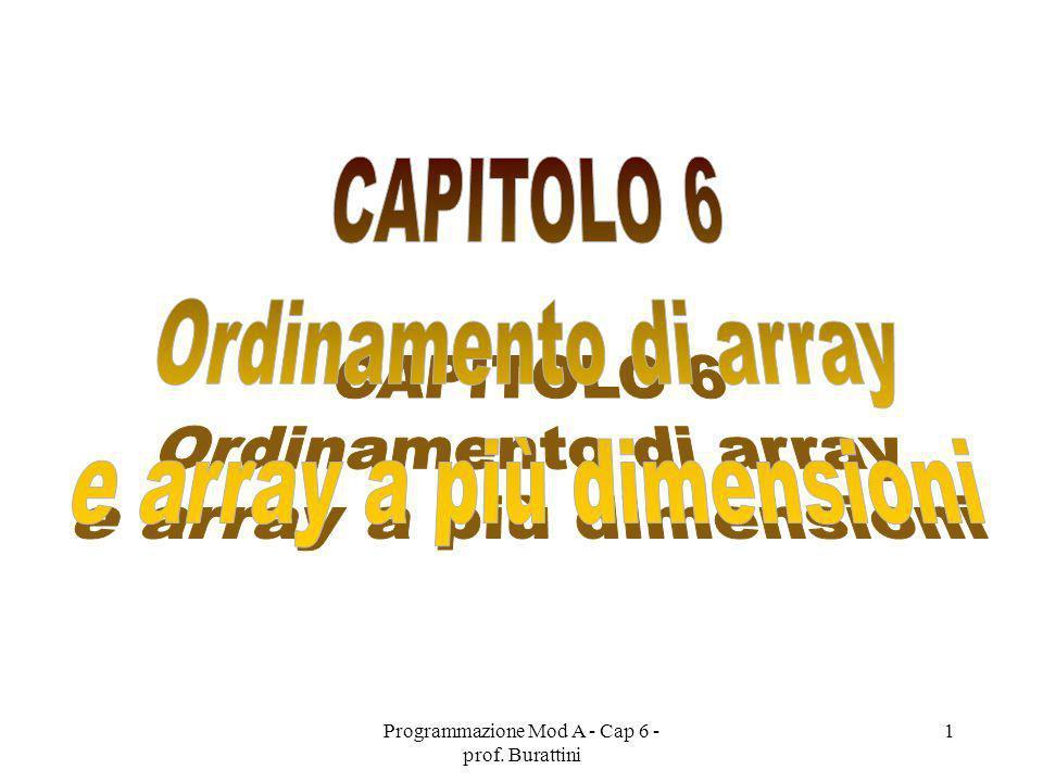 Programmazione Mod A - Cap 6 - prof. Burattini 1
