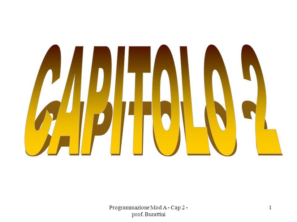 Programmazione Mod A - Cap 2 - prof.Burattini 72 Esercizio.