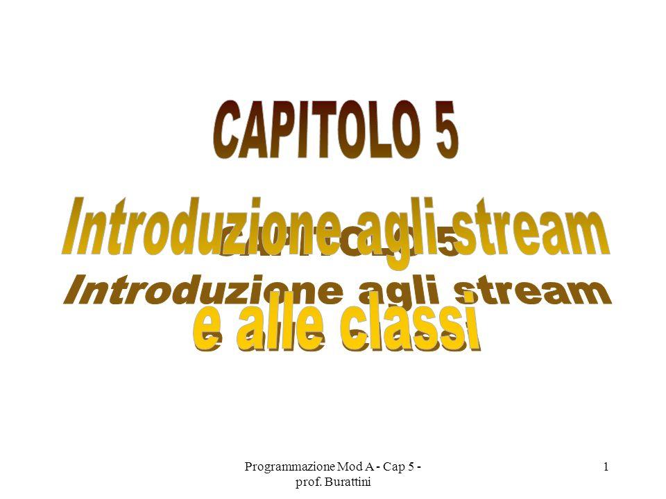 Programmazione Mod A - Cap 5 - prof. Burattini 1